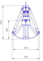 Габаритные размеры грейфера 10-С3 Пр