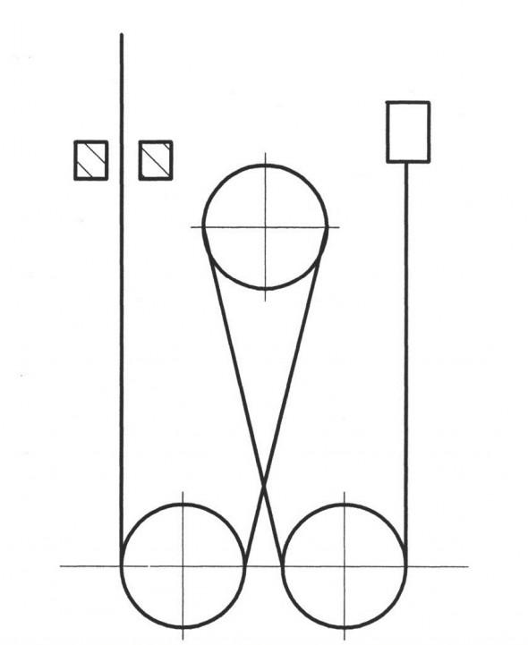 Схема запасовки канатов